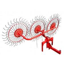 Грабли-ворошилка колесно-пальцевая ВМ-3 для мотоблока