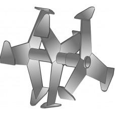 Фрезы Гусиные лапки (Усиленные) на мотокльтиваторы 30мм круг 335х249мм (Champion, Целина 500, МК-100 и др)