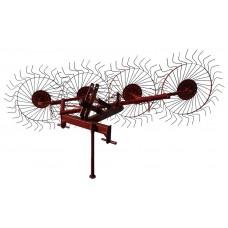 Грабли-ворошилки 4-х колесные однокрылые на минитрактор