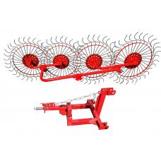 Грабли-ворошилка 4-х колесная однокрылая на минитрактор ВМТ-4