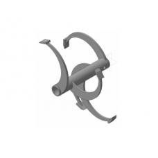 Фрезы спиральные Ø-30мм круг на мотокультиваторы 350х285мм  (Forza, Целина, Hobby, Texas, Rezer, Хопер, Lilli)