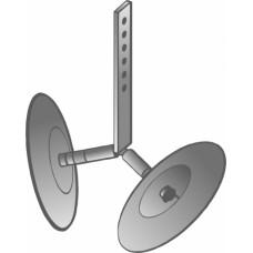 Окучник дисковый б/сц для мотокультиваторов