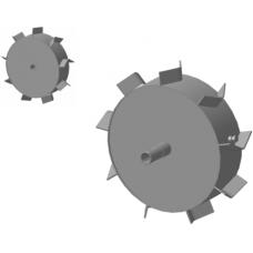 Грунтозацепы засыпные Ø-30 мм круг (450х120мм Нева, Форза,Ока,Каскад)