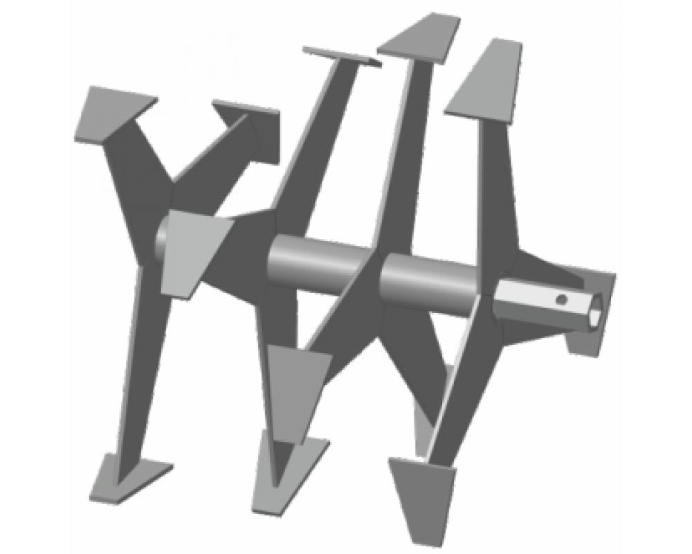 Фрезы Гусиные лапки S-24 мм 6-гранник (390-355мм) Forza, Crosser, Weima, Хопер итд.
