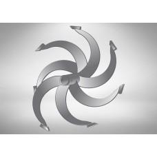 Фрезы спиральные Ø-30мм круг 7 зубов 470х370мм  (Целина, Каскад, Кадви, Нева, Луч)