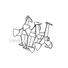 Фрезы Гусиные лапки (Усиленные) S-32 мм 6-гранник 410-385мм (Forza, Crosser, Weima, Хопер и др.)